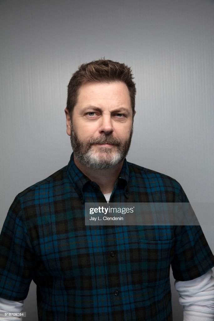 Actor Nick Offerman, from the film 'Hearts Beat Loud', is photographed for Los Angeles Times on January 19, 2018 in the L.A. Times Studio at Chase Sapphire on Main, during the Sundance Film Festival. PUBLISHED IMAGE.