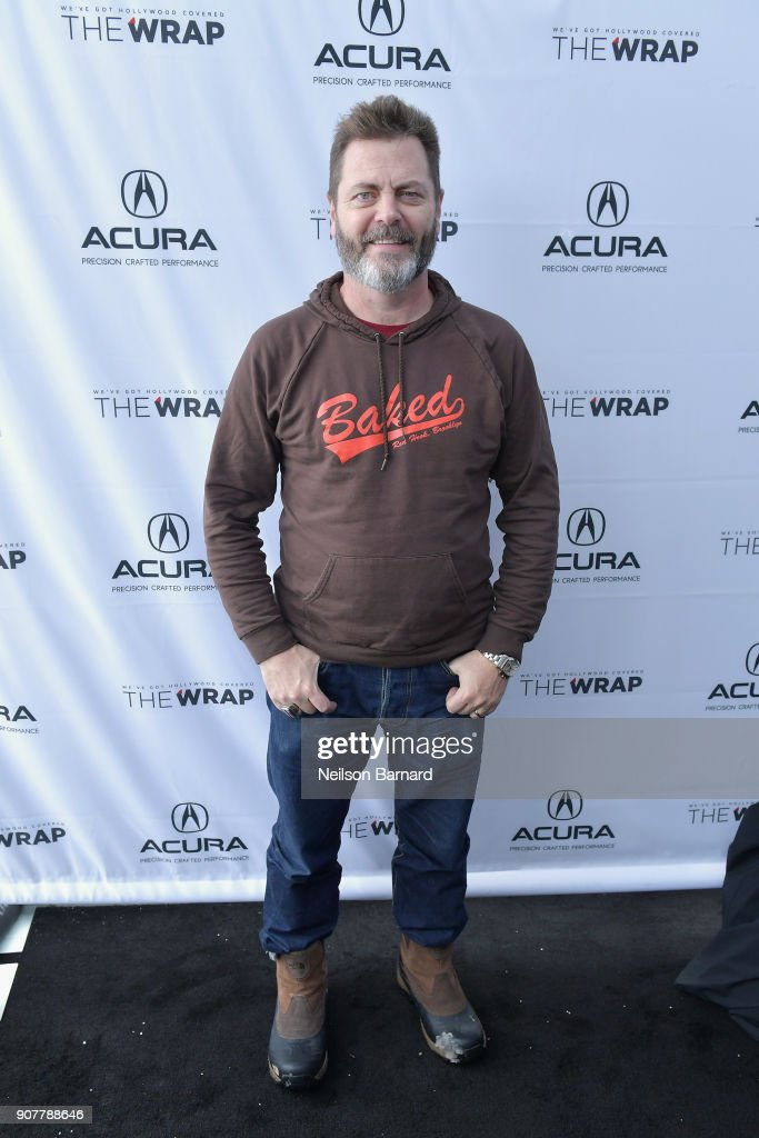 Actor Nick Offerman of 'Hearts Beat Loud' attends the Acura Studio at Sundance Film Festival 2018 on January 20, 2018 in Park City, Utah.