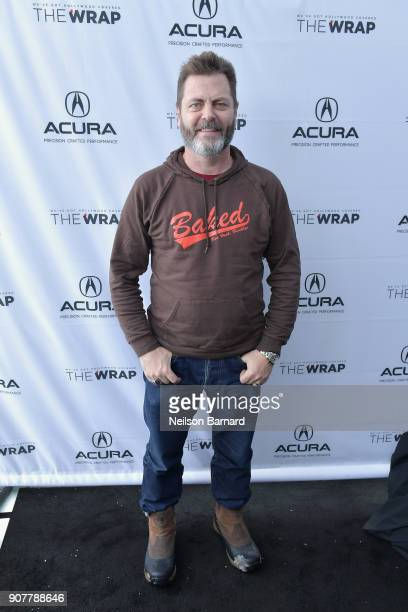 Actor Nick Offerman of 'Hearts Beat Loud' attends the Acura Studio at Sundance Film Festival 2018 on January 20 2018 in Park City Utah
