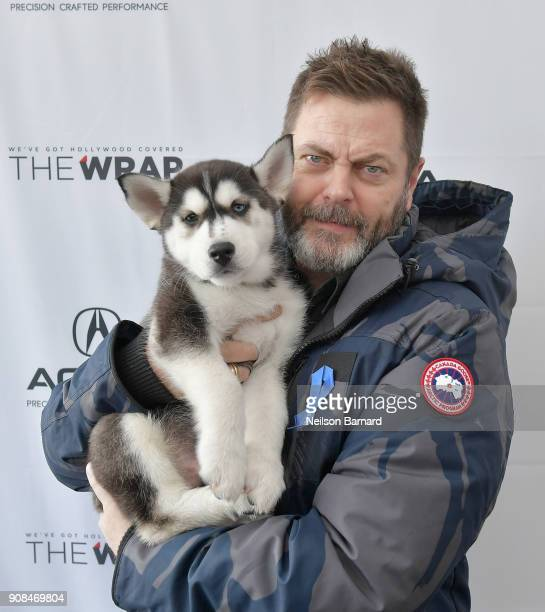 Actor Nick Offerman of 'White Fang' attends the Acura Studio at Sundance Film Festival 2018 on January 21 2018 in Park City Utah