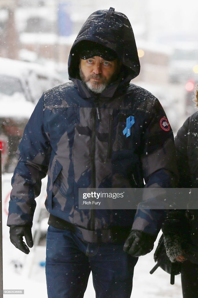 Actor Nick Offerman wears Canada Goose at the 2018 Sundance Film Festival at Park City Marriott on January 20, 2018 in Park City, Utah.