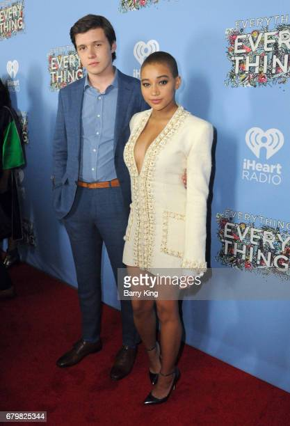 Actor Nick Robinson and actress Amandla Stenberg attend screening of Warner Bros Pictures' 'Everything Everything' at TCL Chinese Theatre on May 6...