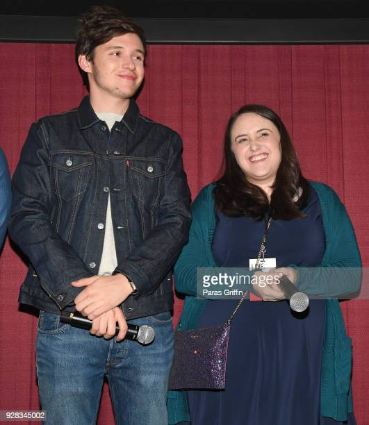 """Actor Nick Robinson and author Becky Albertalli attend """"Love, Simon"""" Atlanta Fan Screening and Q&A at Regal Atlantic Station on March 6, 2018 in..."""