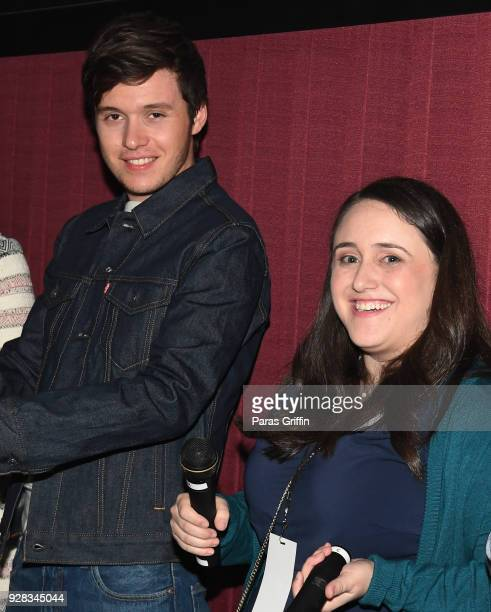 Actor Nick Robinson and author Becky Albertalli attend Love Simon Atlanta Fan Screening and QA at Regal Atlantic Station on March 6 2018 in Atlanta...