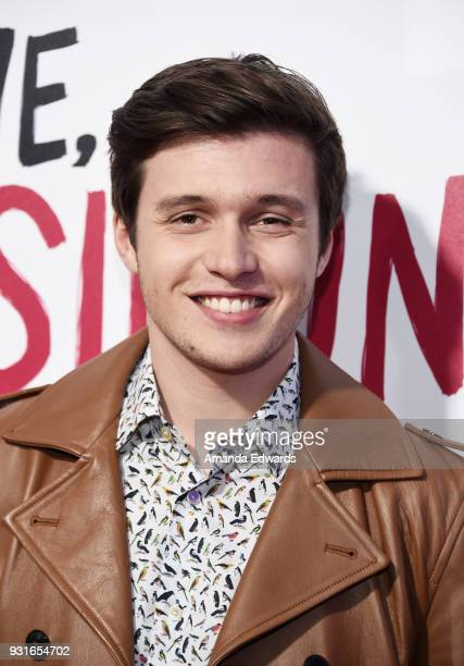 Actor Nick Robinson arrives at the 'Love Simon' special screening and performance at Westfield Century City on March 13 2018 in Century City...