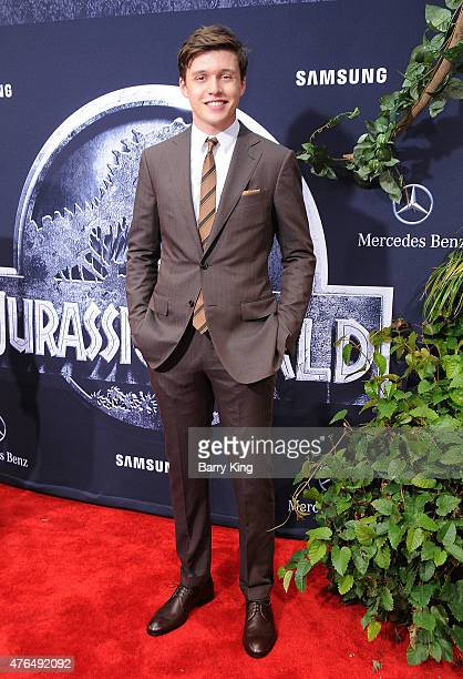 Actor Nick Robinson arrives at Universal Pictures World Premiere of 'Jurassic World' at Dolby Theatre on June 9 2015 in Hollywood California