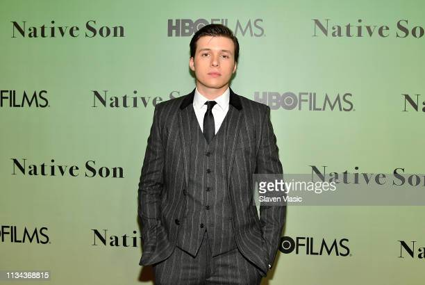Actor Nick Robinson attends HBO's Native Son screening at Guggenheim Museum on April 1 2019 in New York City