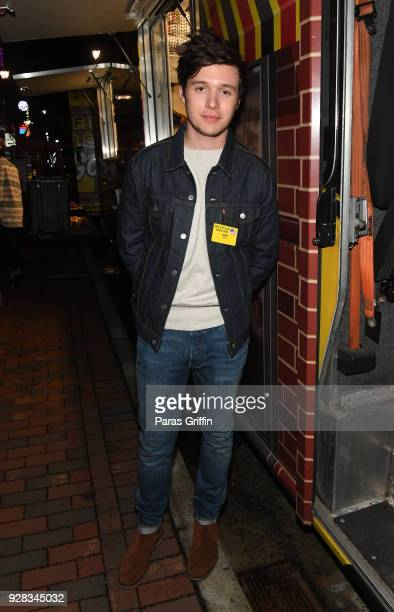 Actor Nick Robinson attends Love Simon Atlanta Fan Screening and QA at the Waffle House Food Truck at Regal Atlantic Station on March 6 2018 in...