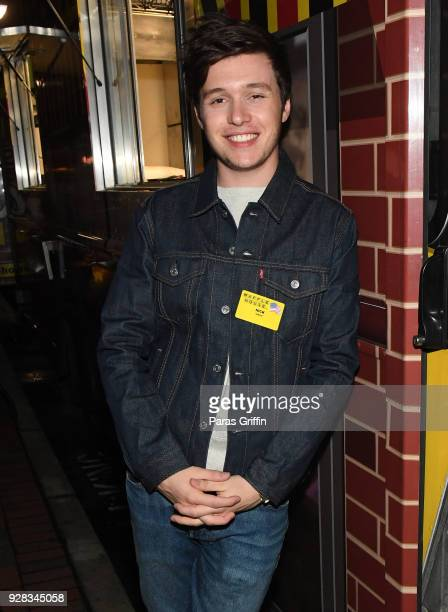 """Actor Nick Robinson attends """"Love, Simon"""" Atlanta Fan Screening and Q&A at the Waffle House Food Truck at Regal Atlantic Station on March 6, 2018 in..."""