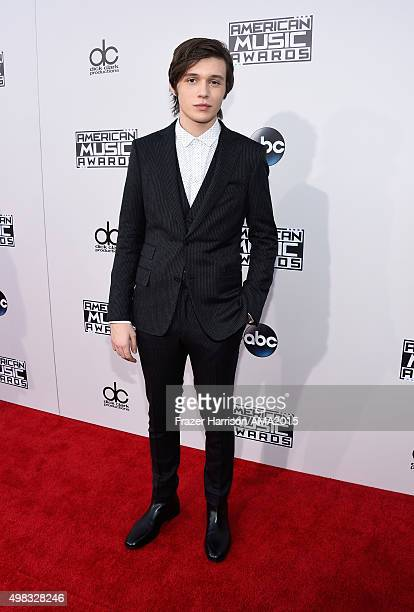 Actor Nick Robinson attends the 2015 American Music Awards at Microsoft Theater on November 22 2015 in Los Angeles California