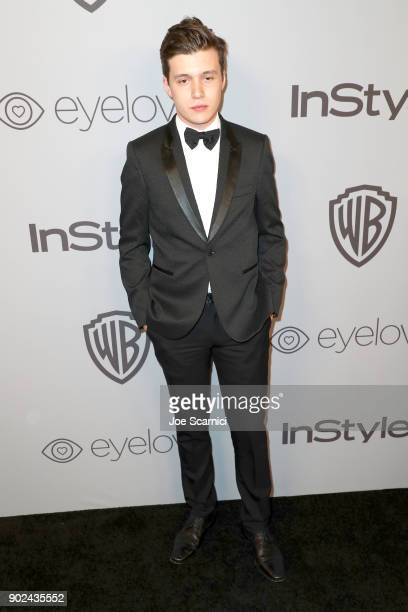 Actor Nick Robinson attends the 2018 InStyle and Warner Bros 75th Annual Golden Globe Awards PostParty at The Beverly Hilton Hotel on January 7 2018...