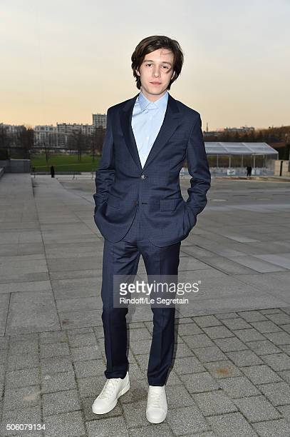 Actor Nick Robinson attends the Louis Vuitton Menswear Fall/Winter 20162017 show as part of Paris Fashion Week on January 21 2016 in Paris France