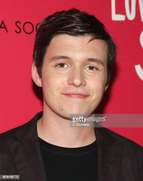 "Actor Nick Robinson poses for a photo at the screening of ""Love, Simon"" hosted by 20th Century Fox & Wingman at The Landmark at 57 West on March 8,..."