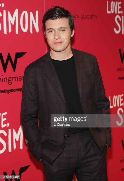 Actor Nick Robinson poses for a photo at the screening of 'Love Simon' hosted by 20th Century Fox Wingman at The Landmark at 57 West on March 8 2018...
