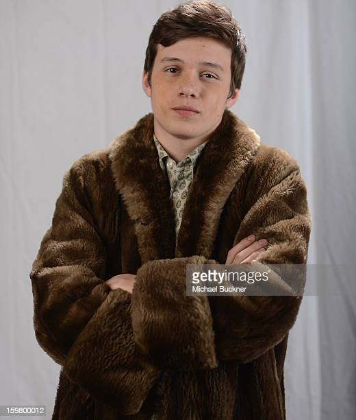 Actor Nick Robinson poses for a portrait at the photo booth for MSN Wonderwall at ChefDance on January 20 2013 in Park City Utah