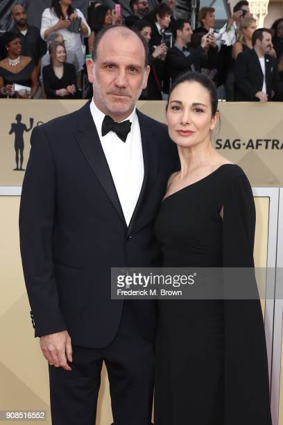 Actor Nick Sandow and Tamara MalkinStuart attend the 24th Annual Screen Actors Guild Awards at The Shrine Auditorium on January 21 2018 in Los...
