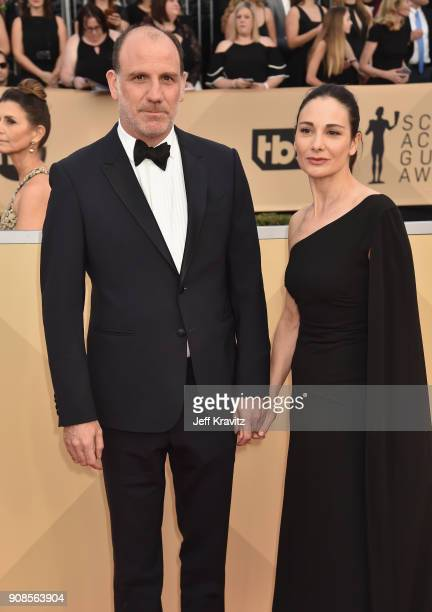 Actor Nick Sandow and Tamara MalkinStuart attend the 24th Annual Screen ActorsGuild Awards at The Shrine Auditorium on January 21 2018 in Los...