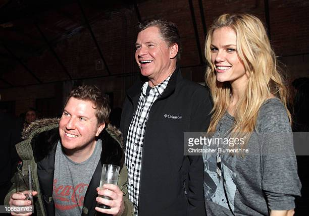 Actor Nick Swardson TV personality Dan Patrick and model/actress Brooklyn Decker attend GQ Cadillac Lacoste and Patron Tequila Celebrating the...