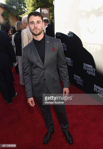 Actor Nick Thurston arrives at the premiere of 20th Century Fox's Dawn Of The Planet Of The Apes at Palace Of Fine Arts Theater on June 26 2014 in...