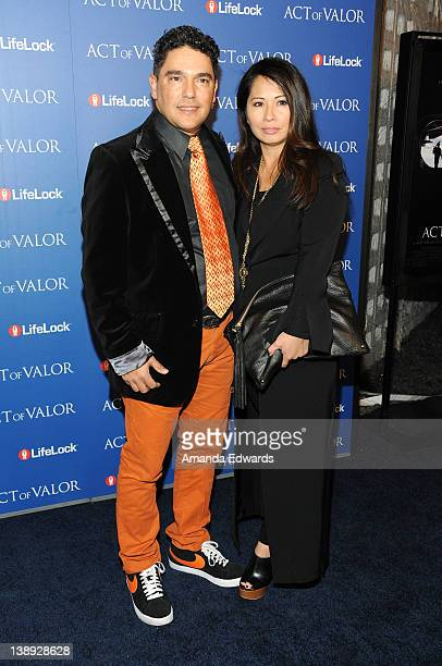 Actor Nick Turturro and his wife Lissa arrive at the Act Of Valor Los Angeles Premiere at ArcLight Cinemas on February 13 2012 in Hollywood California