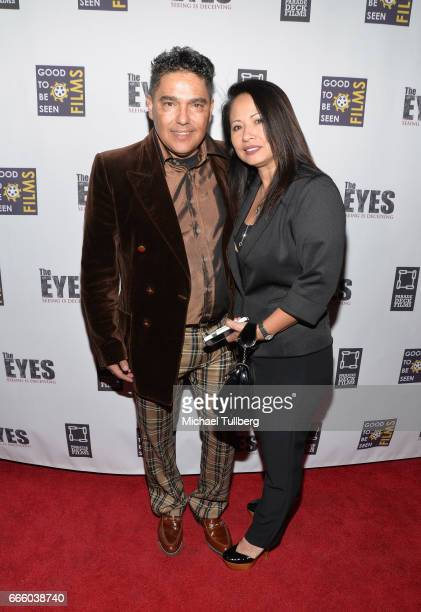 Actor Nick Turturro and Lissa Espinosa attend the premiere of Parade Deck Films' The Eyes at Arena Cinelounge on April 7 2017 in Hollywood California