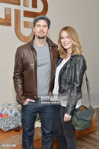 Actor Nick Zano and Leah Renee attend the DEN Meditation Studio grand opening on January 31 2016 in Los Angeles California