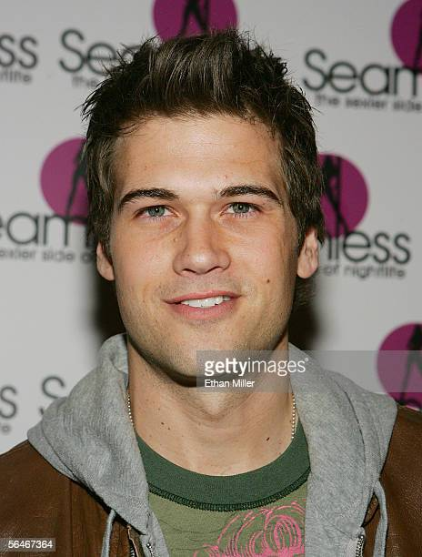 Actor Nick Zano arrives at the grand opening of the Seamless Adult Ultra Lounge early December 18 2005 in Las Vegas Nevada