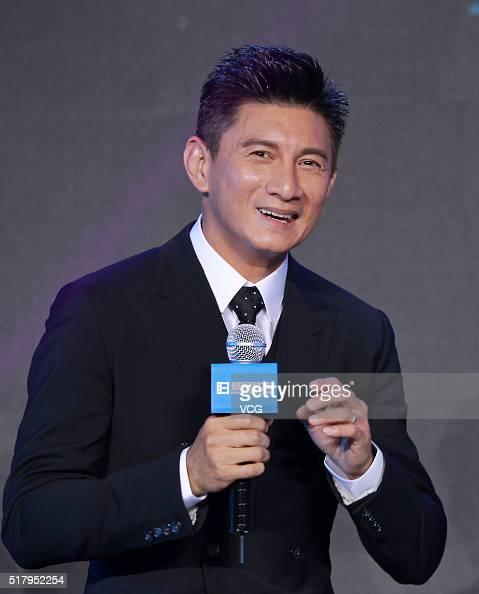 Actor Nicky Wu attends the press conference of clothes