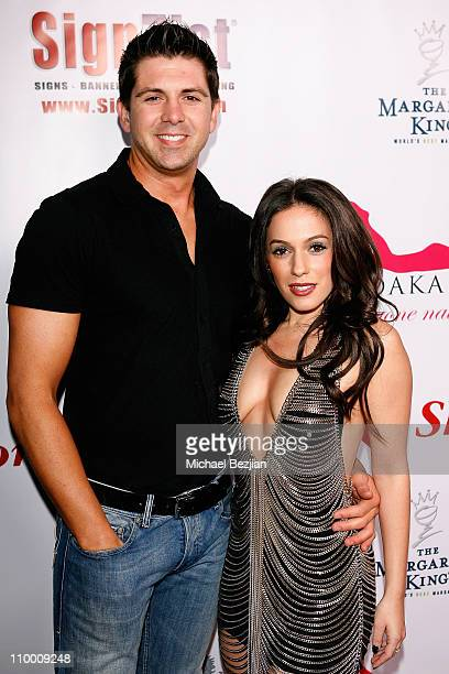 Actor Nico Lombardo and actress Christina DeRosa arrive at the Launch Party for Shoes for Stars on April 8 2008 in Los Angeles CA