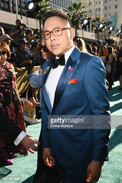 Actor Nico Santos arrives at Warner Bros Pictures' Crazy Rich Asians Premiere at TCL Chinese Theatre IMAX on August 7 2018 in Hollywood California