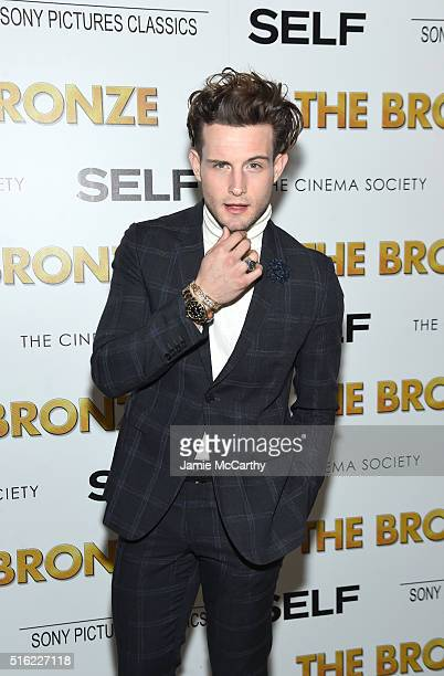 Actor Nico Tortorella attends a screening of Sony Pictures Classics' The Bronze hosted by Cinema Society SELF at Metrograph on March 17 2016 in New...