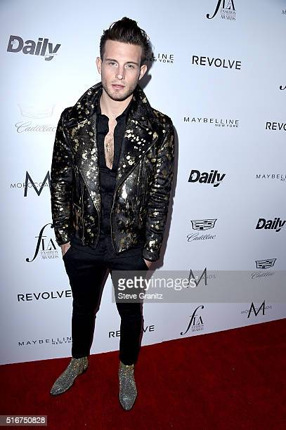 Actor Nico Tortorella attends the Daily Front Row 'Fashion Los Angeles Awards' at Sunset Tower Hotel on March 20 2016 in West Hollywood California