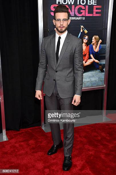 Actor Nico Tortorella attends the New York premiere of 'How To Be Single' at the NYU Skirball Center on February 3 2016 in New York City