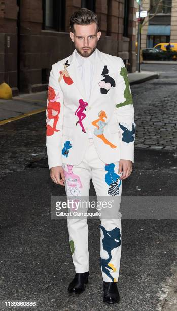 """Actor Nico Tortorella is seen arriving to the Tribeca TV screening of """"Younger"""" during the 2019 Tribeca Film Festival at Spring Studios on April 25,..."""