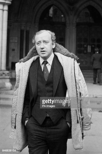 Actor Nicol Williamson outside the High Court in London where he was ordered by the Judge to pay his former wife 33 year old actress Jill Townsend...