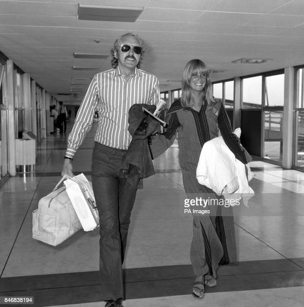 Actor Nicol Williamson with his American fiancee Jill Townsend as he returned form Israel where he just completed a starring role in Jerusalem...
