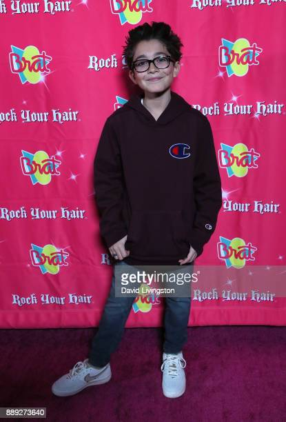 Actor Nicolas Bechtel attends social media influencer Annie LeBlanc's 13th birthday party at Calamigos Beach Club on December 9 2017 in Malibu...