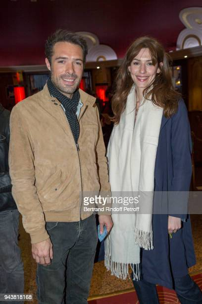 Actor Nicolas Bedos and Actress Doria Tillier attends Robert Charlebois Performs for 50th years of Songs at Le Grand Rex on April 7 2018 in Paris...