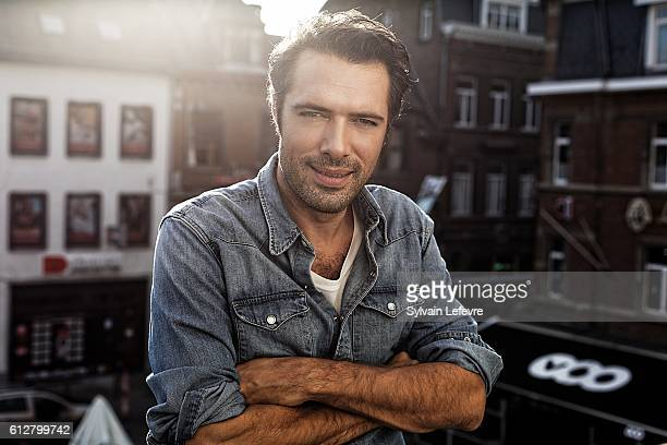 Actor Nicolas Bedos is photographed for Self Assignment on October 3 2016 in Namur Belgium
