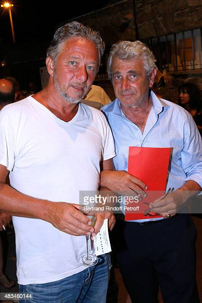 Actor Nicolas Briancon and Artistic Director of the Festival Michel Boujenah attend the Alex Lutz Show during the 31th Ramatuelle Festival : Day 8,...