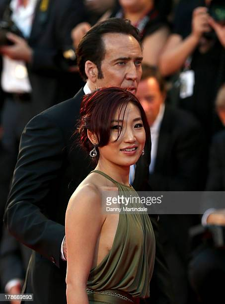 Actor Nicolas Cage and wife Alice Kim Cage attend the 'Joe' Premiere during The 70th Venice International Film Festival at Palazzo Del Cinema on...