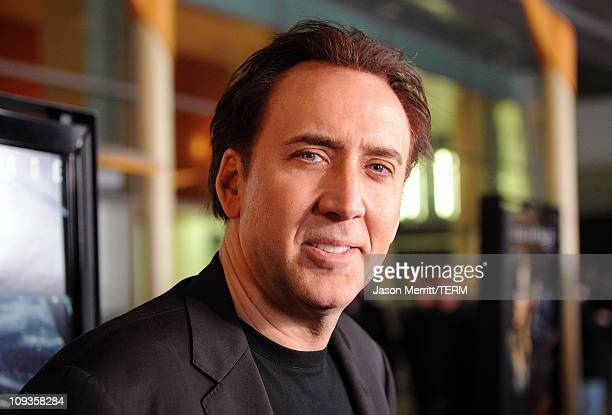 Actor Nicolas Cage arrives at the screening of Summit Entertainment's Drive Angry 3D on February 22 2011 in Hollywood California