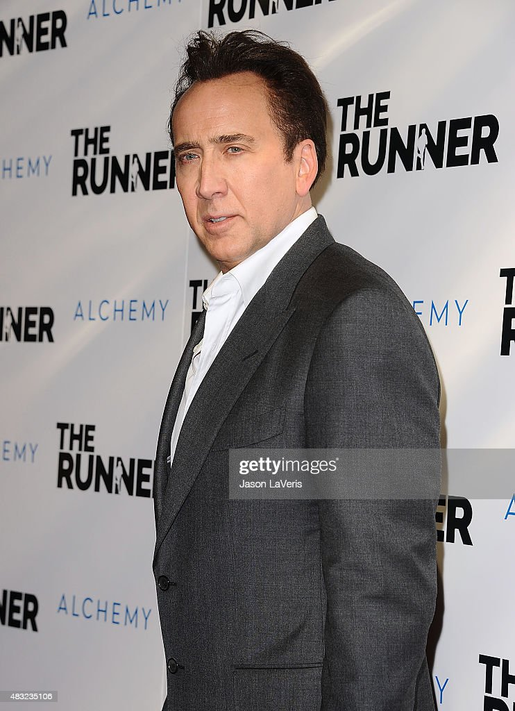 Actor Nicolas Cage attends a screening of 'The Runner' at TCL Chinese 6 Theatres on August 5, 2015 in Hollywood, California.
