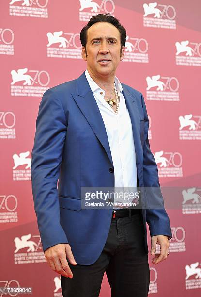 Actor Nicolas Cage attends Joe Photocall during The 70th Venice International Film Festival at Palazzo del Casino on August 30 2013 in Venice Italy