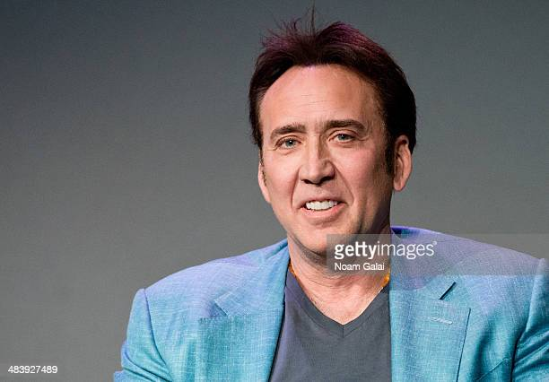 Actor Nicolas Cage attends Meet The Filmmakers at Apple Store Soho on April 10 2014 in New York City
