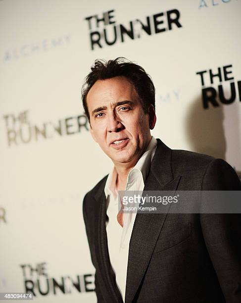 """Actor Nicolas Cage attends Paper Street Films' Screening Of """"The Runner"""" at TCL Chinese 6 Theatres on August 5, 2015 in Hollywood, California."""