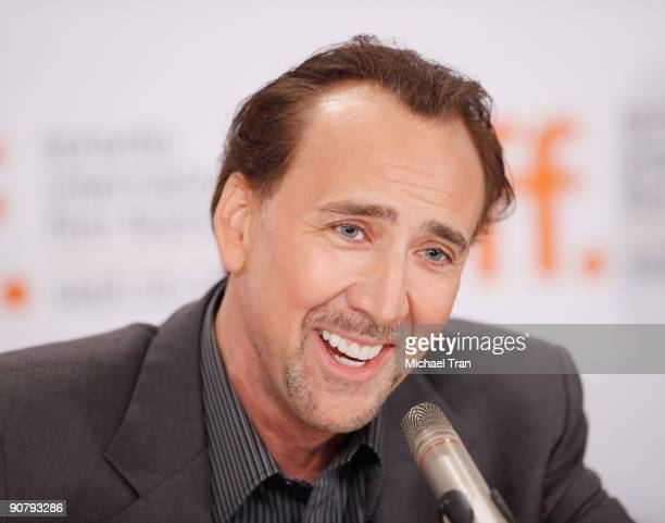 Actor Nicolas Cage attends the Bad Lieutenant Port Of Call New Orleans press conference during the 2009 Toronto International Film Festival held at...