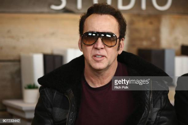 Actor Nicolas Cage attends The IMDb Studio and The IMDb Show on Location at The Sundance Film Festival on January 19 2018 in Park City Utah