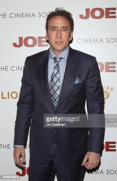 "Actor Nicolas Cage attends the Lionsgate & Roadside Attractions with The Cinema Society premiere of ""Joe"" at Landmark's Sunshine Cinema on April 9,..."