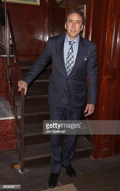 Actor Nicolas Cage attends the Lionsgate Roadside Attractions with The Cinema Society premiere of Joe after party at Chalk Point Kitchen on April 9...